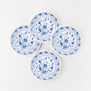 "Blue & White Botanical ""Paper"" Plate"