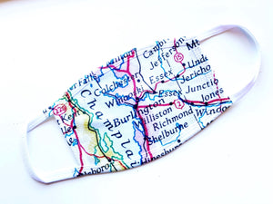 Local Map Face Masks