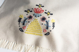 Embroidered Frida Dishtowel