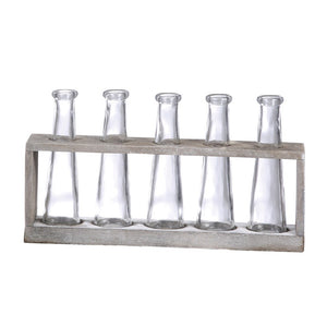 Distressed Wood Vase Holder