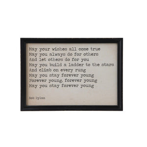 """May Your Wishes All Come True""Wood Framed Wall Decor"