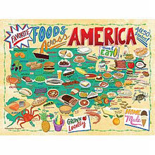 Load image into Gallery viewer, Foods Across America Road Trip Puzzle by True South Puzzle