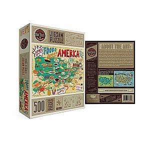 Foods Across America Road Trip Puzzle by True South Puzzle