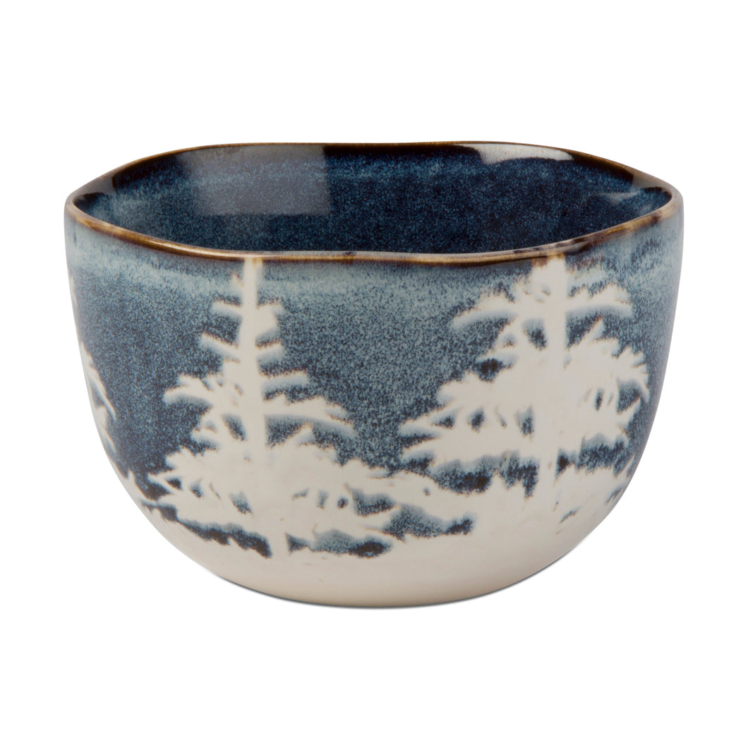 Blue & White Forest Snack Bowl