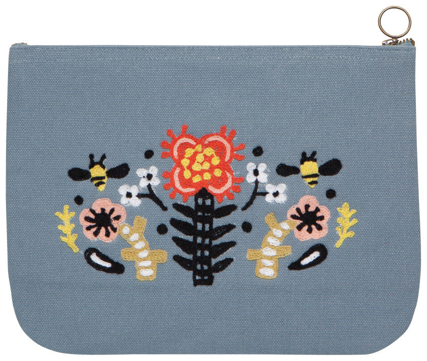 Frida Large Zipper Pouch