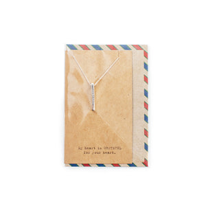 AIR MAIL BAR NECKLACE COLLECTION  - STERLING SILVER