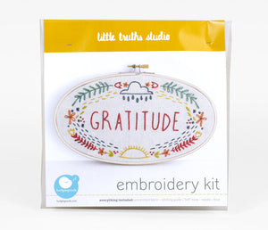Gratitude Embroidery Kit