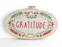 Load image into Gallery viewer, Gratitude Embroidery Kit