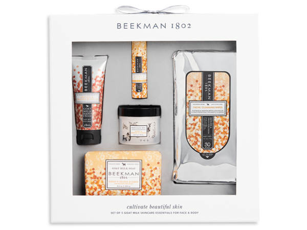 Beekman 1802 Set of 5 Goat Milk Skincare Essentials for Face & Body
