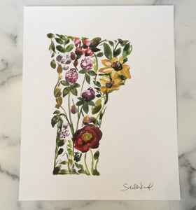 Wildflower Vermont Art Print by Shelby Kregel