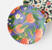 "Load image into Gallery viewer, Fruits and Florals ""Paper"" Plates"