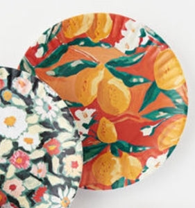 "Fruits and Florals ""Paper"" Plates"