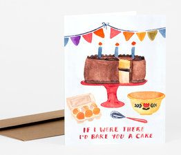 I'd Bake You A Cake Birthday Card