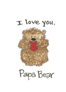 I Love You Papa Bear Father's Day Card