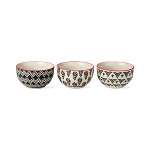 Khilana Stamp Mini Bowls assortment of 3