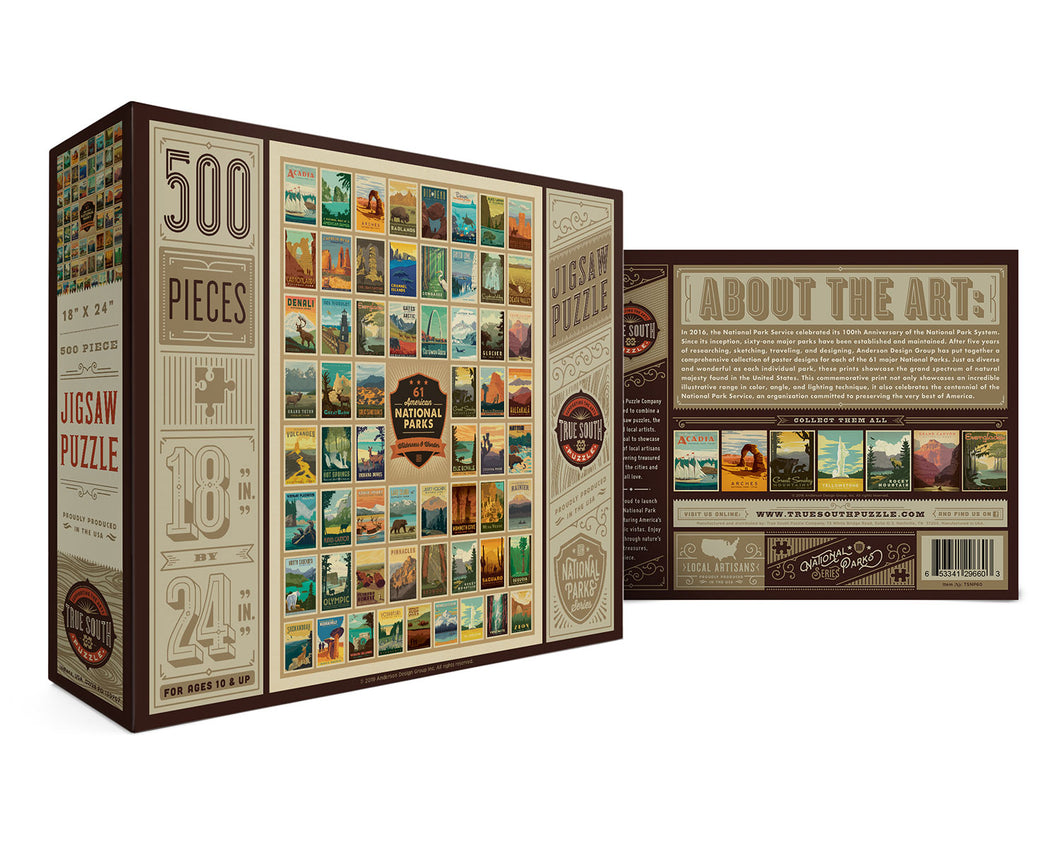 National Parks - Wilderness & Wonder Puzzle by True South