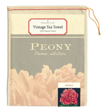 Load image into Gallery viewer, Peony Tea Towel