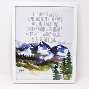 """In Every Walk With Nature"" Art Print by Shelby Kregel"
