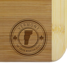 Load image into Gallery viewer, Vermont State Stamp Series Cutting Board