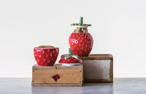 Stoneware Strawberry Jars