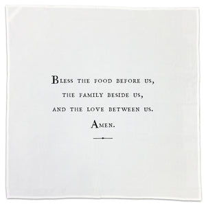 "Flour Sack Dish Towels/Napkins/ (""Family"" Theme - For Your Nearest and Dearest)"