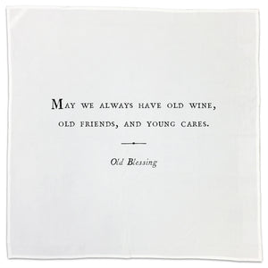 Flour Sack Dish Towel/Napkins (Friendship Theme - For Dates With Your Best Mates)