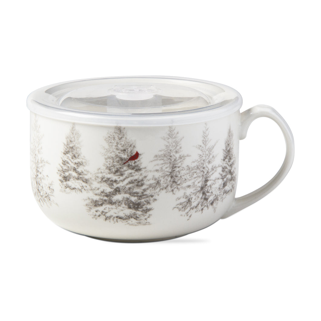 Winter Sketch Soup Bowl with Lid