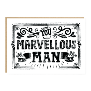 You Marvelous Man Father's Day Card