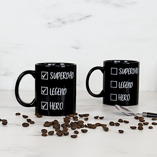 Checklist Superdad Heat Reveal Mug