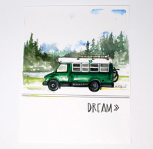 Load image into Gallery viewer, Dream Bus Life Art Print by artist Shelby Kregel