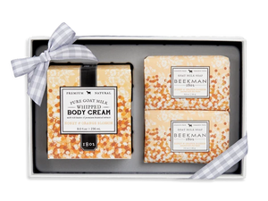 Beekman 1802 Honey & Orange Blossom Soap and Whipped Body Cream Trio
