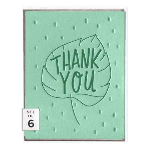 Leaf Thank You Card - Set of 6