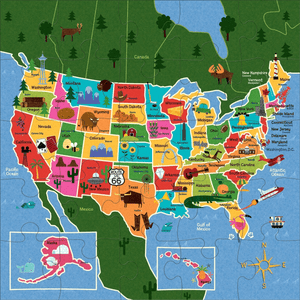 Map of USA Jumbo Puzzle
