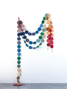 Colorful Wool Felt Flat Circle Garland