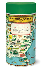 Load image into Gallery viewer, National Parks Map Vintage 1,000 Piece Puzzle