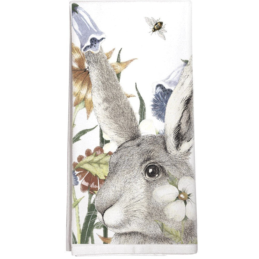 Montgomery Street Flowers & Rabbit Towel
