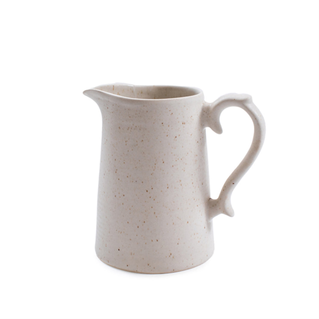 Ribbed Ceramic Speckled Pitcher