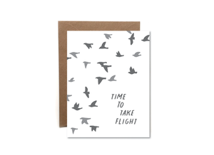 Time To Take Flight - Graduation Card