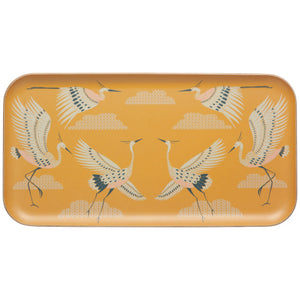 Yellow Flight Of Fancy Willow Wood Tray