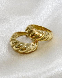 Aiden Twist Ring Gold Plated over sterling silver