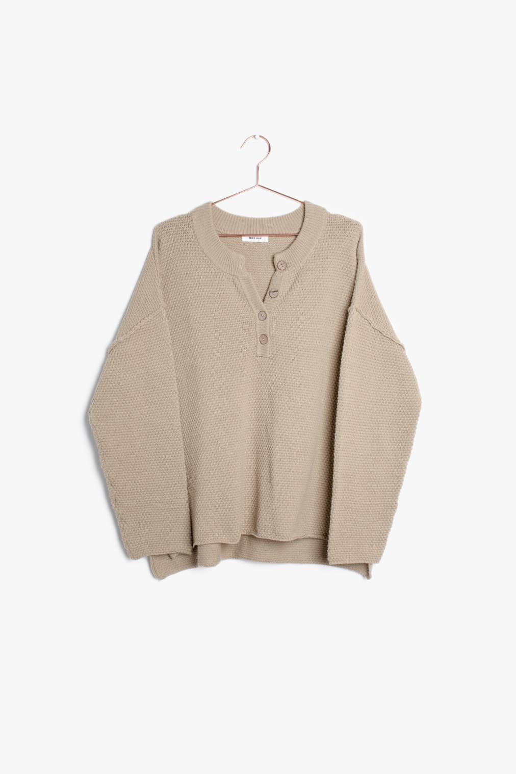 Catalina Sweater Front View Khaki