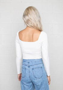 Marcy Bodysuit White Back View