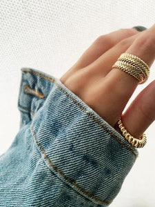 Penelope Twist Band Gold Plated over sterling silver