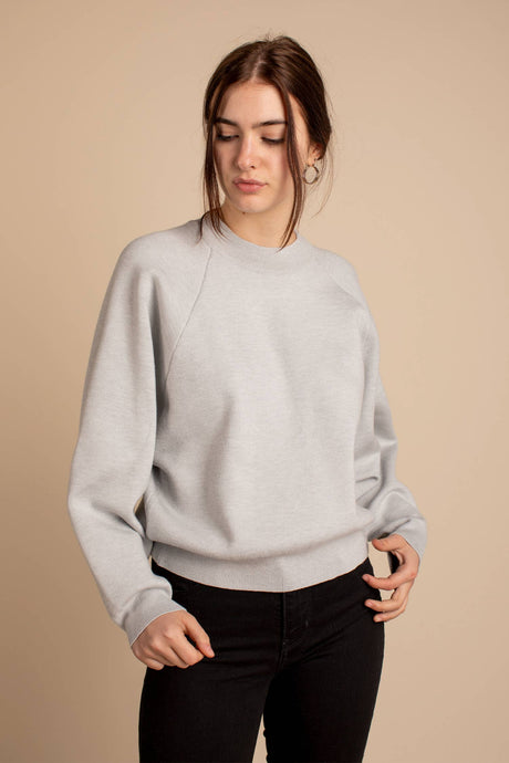 Ruel Sweater Grey Front View