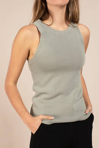 Signy Tank Sweater Dusty Olive
