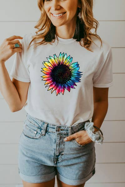 Sunflower Graphic T White