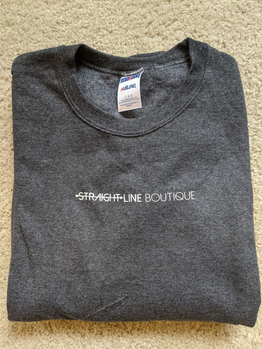 Straight Line Boutique Sweatshirt Charcoal Grey