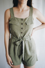 Load image into Gallery viewer, Linen Strappy Romper