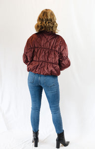 Cosmic Quilted Jacket Plum