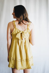 Strappy Babydoll Dress w/ Hem Detail